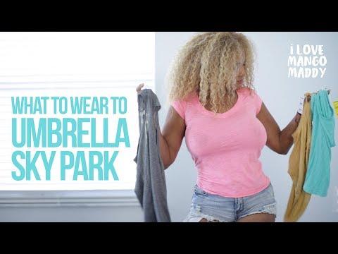 Umbrella Sky Park and shirt haul