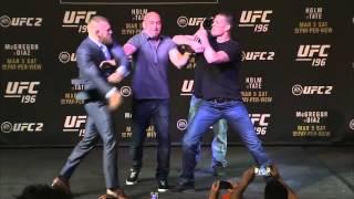UFC 196: McGregor vs Diaz & Holm vs Tate Faceoffs