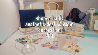 Shopee haul: Aesthetic Desk & Room Decoration #1   indonesia screenshot 4