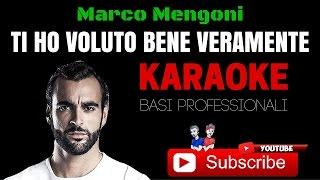 TI HO VOLUTO BENE VERAMENTE (Marco Mengoni) BASE KARAOKE Professionale + TESTO