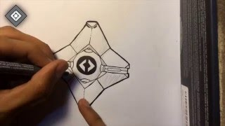 Destiny The Taken King - Ghost Drawing Timelapse