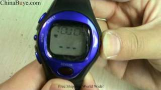 Sporty Watch Blue with Calorie Counter Pulse Heart Rate Monitor