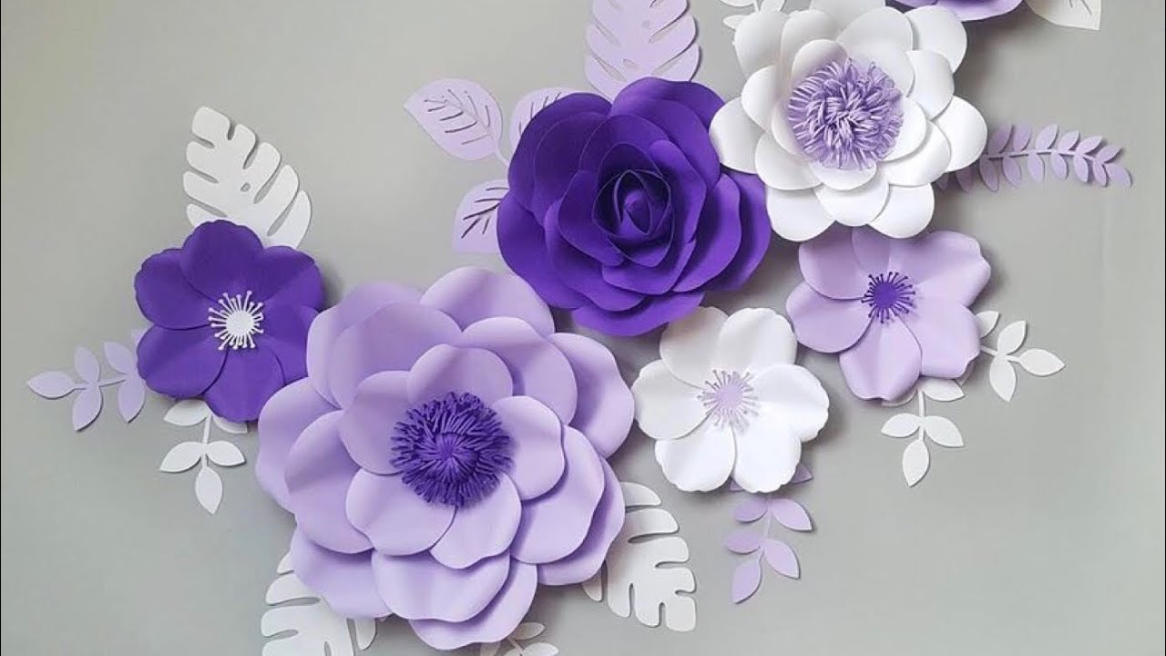 Diy Paper Flower Step By Step Diy Room Decor Wall Art Giant Paper Flowers Back Drop 2018