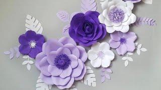 DIY Paper Flower Step by Step | DiY Room Decor Wall Art | Giant Paper Flowers Back Drop 2018