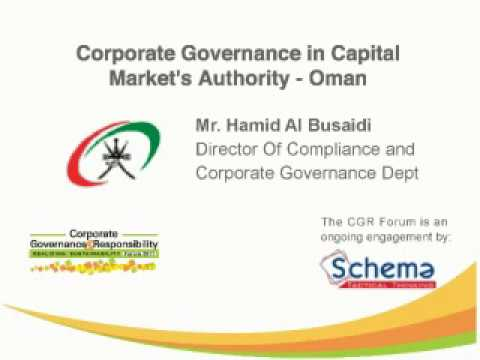 Corporate Governance in Capital Market's Authority- Oman (Arabic)