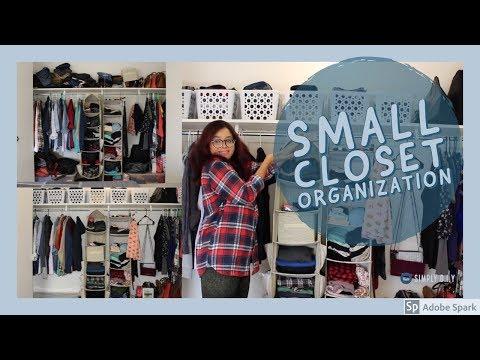 Small Closet Organization using Dollar Tree Items | Organization | Simply D.I.Y