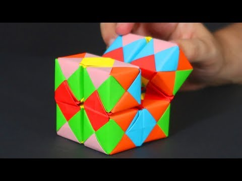 HOW TO MAKE ORIGAMI INFINITY CUBE - CRAZY ABOUT DIY