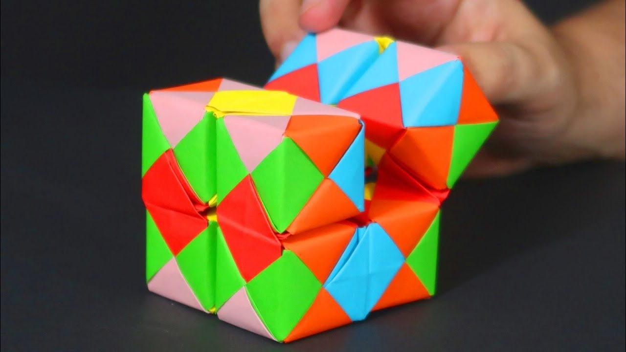 how to make origami infinity cube crazy about diy youtube. Black Bedroom Furniture Sets. Home Design Ideas