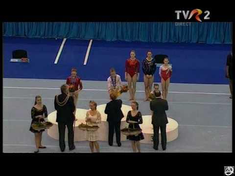 2010 Europeans - Beam Ceremony (Amelia Racea, Aliya Mustafina & Raluca Haidu)