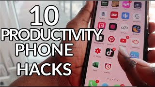 10 WAYS To Use Your PHONE For PRODUCTIVITY & MOTIVATION