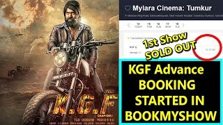 KGF Advance Booking Started In BookMyShow I 1st Show Sold Out In Mylara Cinema