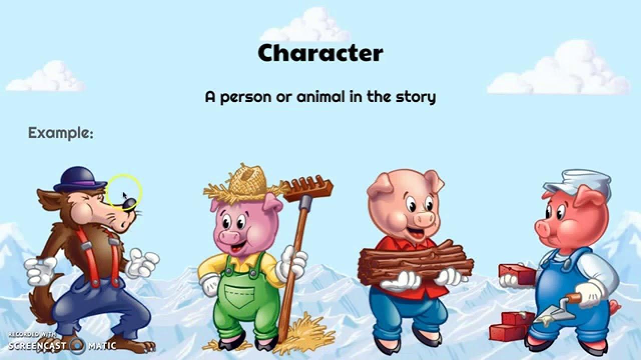 Plot Structure Diagram Three Little Pigs.Plot Elements Introduction Youtube