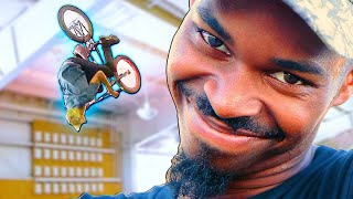 CAN A SKATEBOARDER BACKFLIP A BMX IN 1O MINUTES?!?!