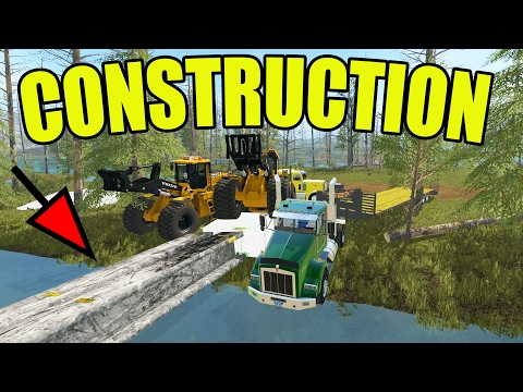 FARMING SIMULATOR 2017 | BRIDGE CONSTRUCTION WITH I-BEAMS | MULTIPLAYER