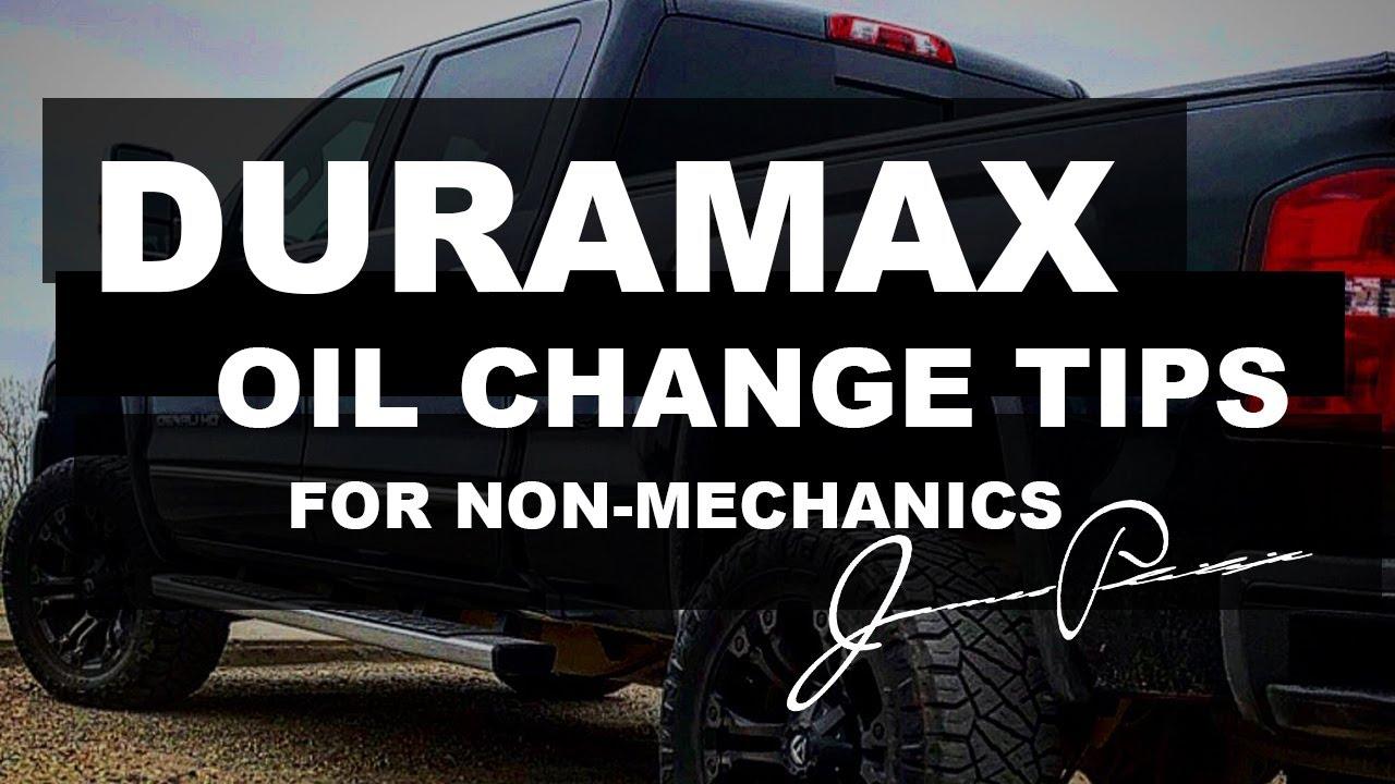 Duramax Diesel Oil Change Tips For Non Mechanics L5p Gmc Chevy Youtube