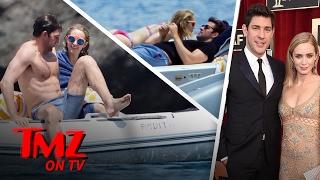 Emily Blunt and John Krasinski's Italian Vacation | TMZ TV