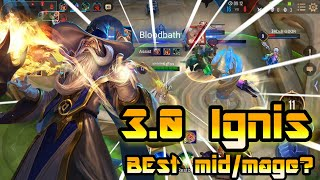 3.0 Ignis - best mid/mage choice🎤Commentary🎙️ | Arena Of Valor | ROV | Liên Quân | 傳說對決