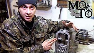 Збірка двигуна мотоцикла Дніпро ( частина 1 ). Установка піддону, передньої кришки колінвалу.