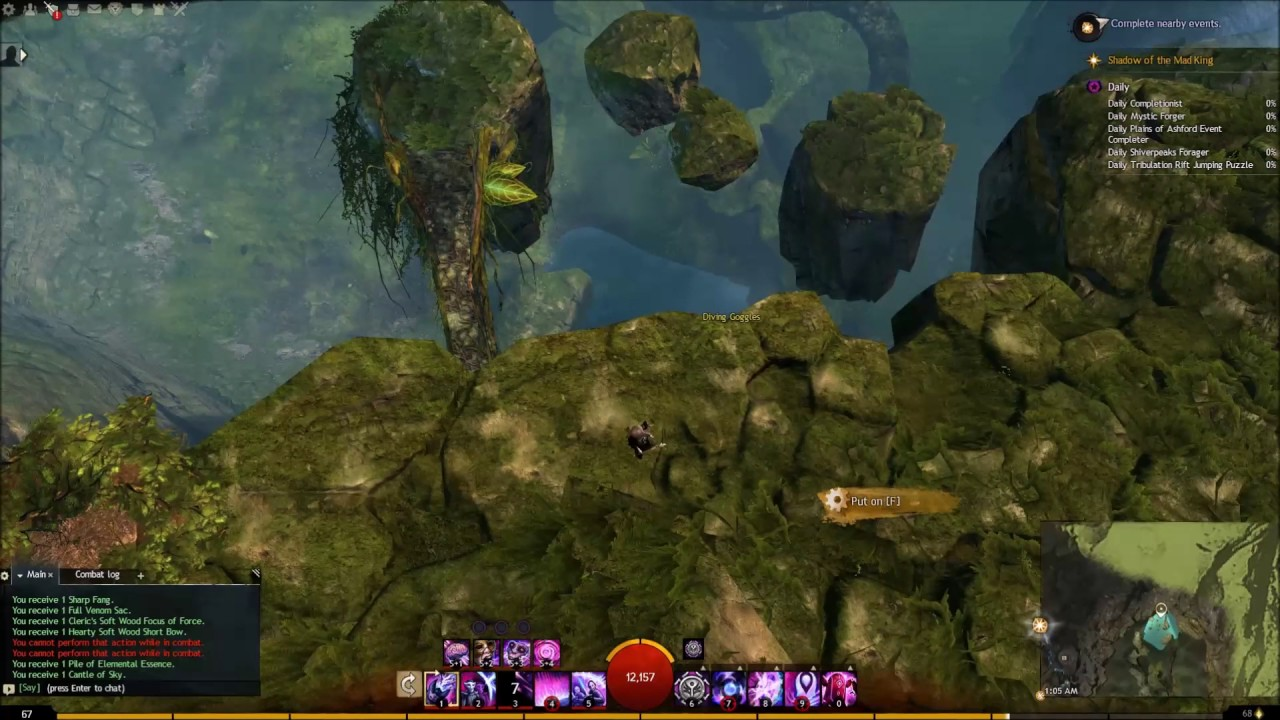GW2 leveling Mesmer Mount Maelstrom Hidden Garden jumping puzzle