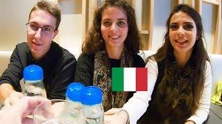 ラムネで乾杯!イタリア人大学生、浅草で和定食ランチを食す。/ Italian students ate japanese typical lunch set menu
