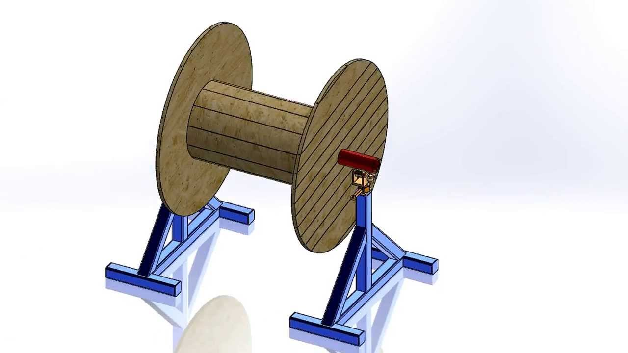 Cable Reel Stand - YouTube