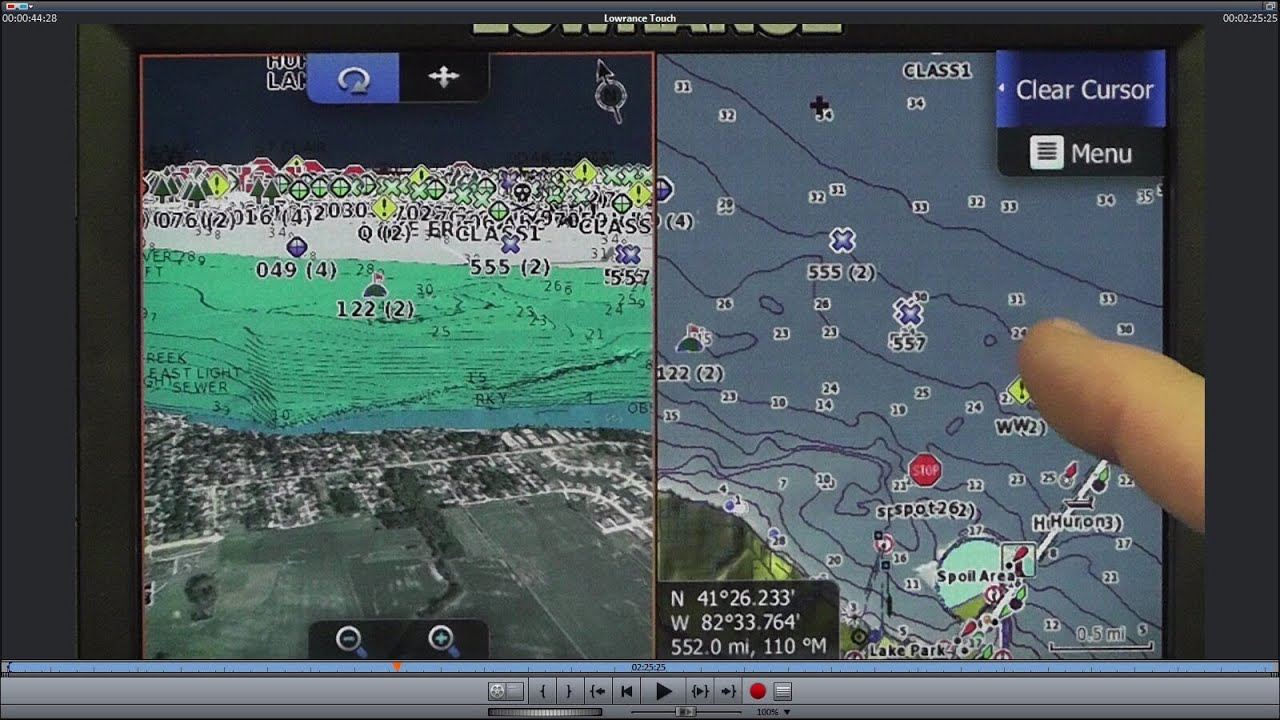 Lowrance HDS Touch Two Map Chips At The Same Time YouTube