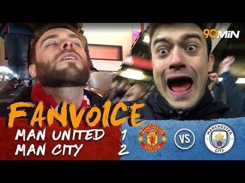 Silva, Rashford & Otamendi goals as Man City beat United! | Man United 1-2 Man City | 90min FanVoice