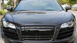 Audi R8 V10 Black Out Front Grille, Emblems, Badges PlastiDip