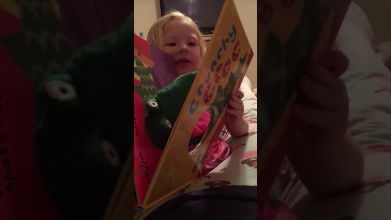 Reading her favorite book - YouTube