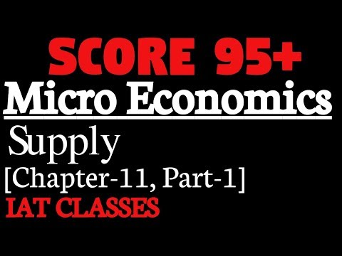 Micro Economics ll Class 12 ll Supply ll Chapter 11(Part 1)