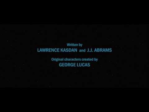 Star Wars: The Force Awakens end credits (fan made)