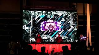 LED Trommler & LED E-Geige Showact mit Live-Visuals