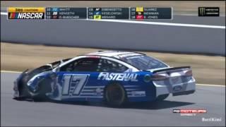 Monster Energy NASCAR Cup Series Sonoma 2017 Stenhouse Jr Crashes Into Patrick