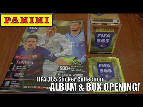 UK PREMIERE! ⚽️ UNBOXING BOOSTER BOX (50 PACKS!) ⚽️ Panini FIFA 365 Official 2016 Sticker Collection