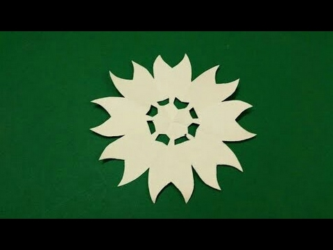How To Make A Simple Easy Paper Flower Paper Cutting Craft Design