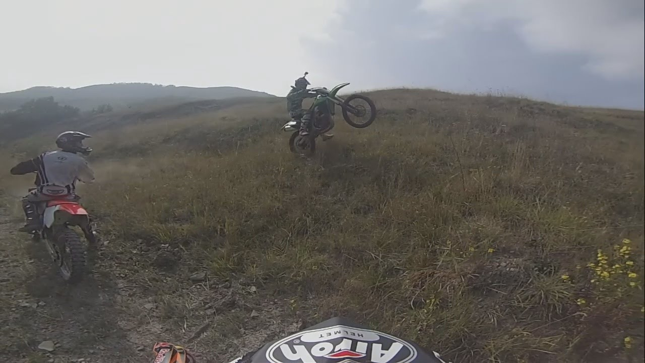 gopro hd: enduro hillclimb with ktm 125 sx & kawasaki kx250f - youtube