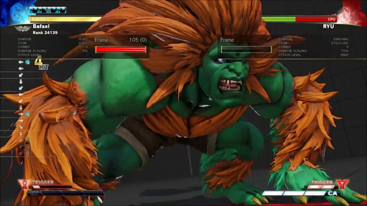 Rising Up: Blanka bread-and-butter combo guide — Punishes, confirm