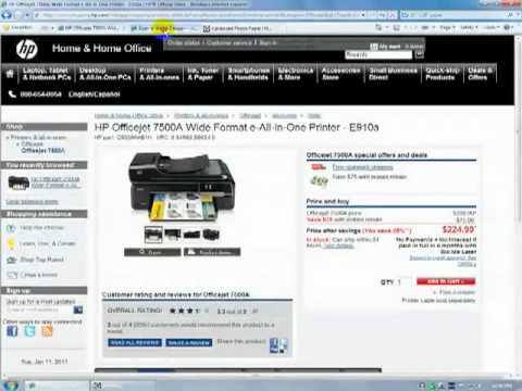 HP Officejet 7500A Wide Format | Network & Software Installation