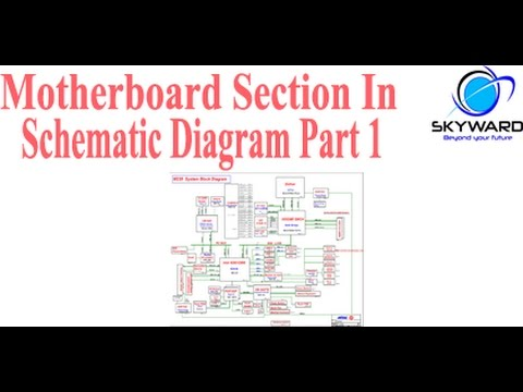 Motherboard Section In Schematic Diagram Part 1 Hindi