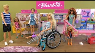Barbie and Ken Story: How Barbie Broke Her Leg on Extreme Sports Court with Barbie Ambulance