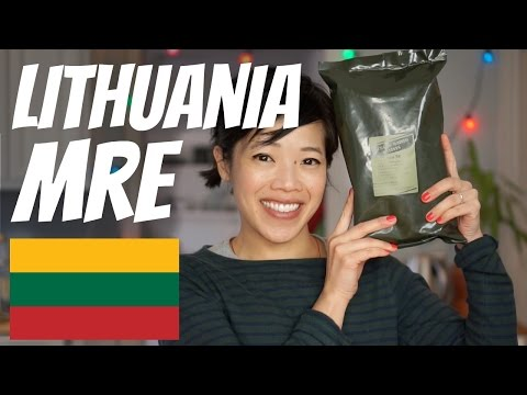 LITHUANIAN Military Ration Taste Test   Lithuania MRE
