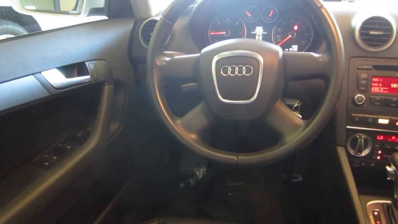 2010 audi a3 white stock 111067 interior youtube. Black Bedroom Furniture Sets. Home Design Ideas