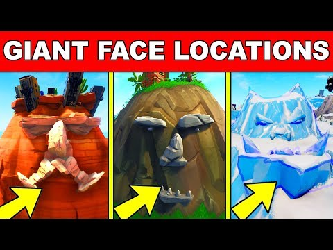 Visit A Giant Face In The Desert, The Jungle And The Snow – ALL LOCATIONS WEEK 1 CHALLENGES FORTNITE