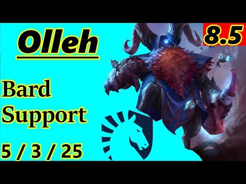 Olleh as Bard Support - S8 Patch 8.5 - NA Challenger - Full Gameplay
