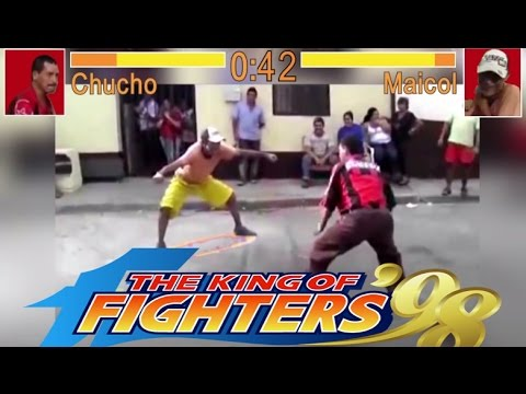 Pelea de borrachos - borrachos chistosos - the king of fighters - street fighter - Funny drunk guys