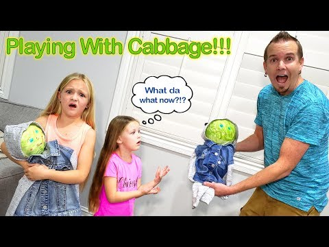 Dad Pranks Girls With Diy Toys Made Of Cabbage!