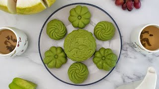 How To Make Custard-Filled Matcha Snow Skin Mooncakes  Recipes At A Glance