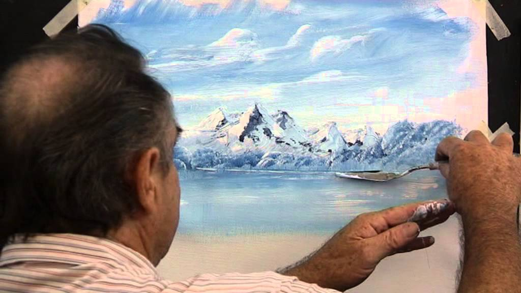 How To Paint Rocky Mountains With Snow Youtube
