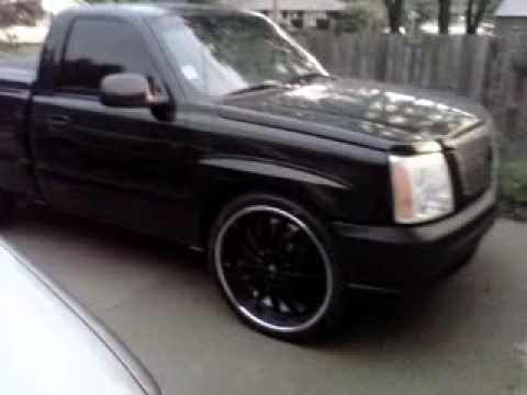 Blacked Out Silverado >> My chevy silverado blacked out with escalade front end ...
