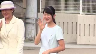 皇太子ご一家、奈良へ 清楚でかわいらしい愛子さま   橿原神宮前駅 2016.7.21 thumbnail